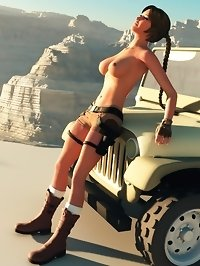 Beautiful Lara Croft in 3d porn gallery
